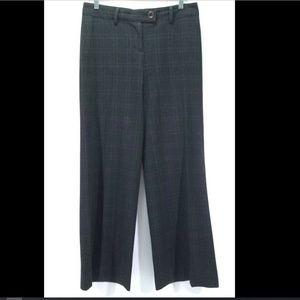 CAbi Dark Gray Plaid Wide Leg Dress Pants Size 4